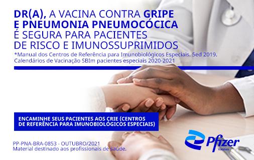 Banner referente à publicidade Encaminhe seus pacientes aos Centros de Referência para Imunobiológicos Especiais
